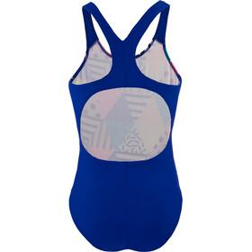 speedo Placement Digital Splashback Swimsuit Girls dazzlebloc black/cobalt